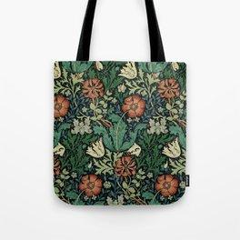 William Morris Compton Floral Art Nouveau Pattern Umhängetasche