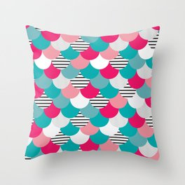 Scale Pattern Throw Pillow