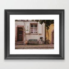 Le Vélo Framed Art Print