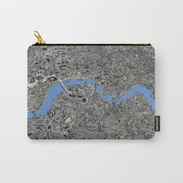 Map of London Thames Drawing Carry-All Pouch