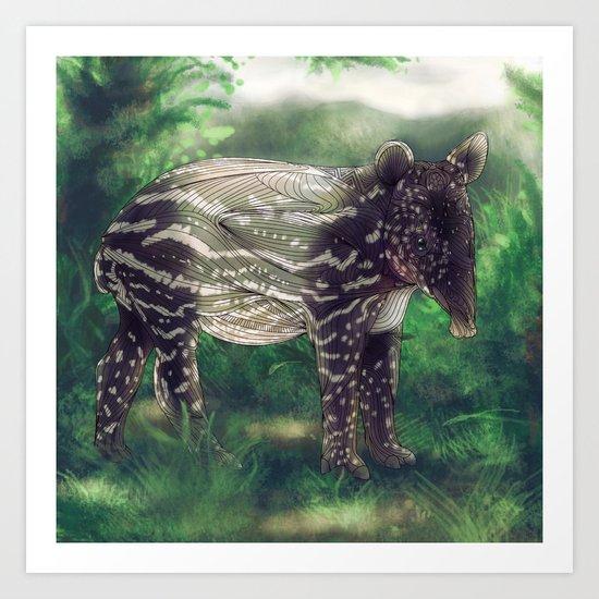 Tapir Art Print