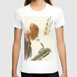Saxophonist Jazz Poster T-shirt