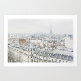 Paris Greys Art Print