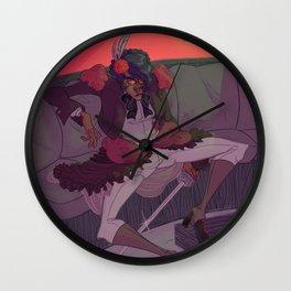 Lady Cyclonus Wall Clock