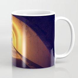 Tunnel lit up at night Coffee Mug