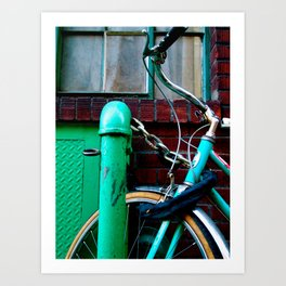 GREEN BICYCLE Art Print