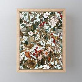 Floral and Birds XXVII Framed Mini Art Print