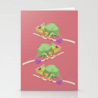 chameleon Stationery Cards featuring Chameleon. by Diana D'Achille
