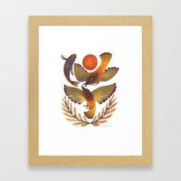 Fighting Birds Framed Art Print