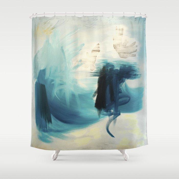 Cobalt Sea Shower Curtain by angelenetulett