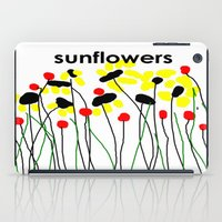 sunflowers iPad Cases featuring Sunflowers by Jessielee