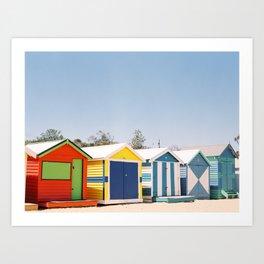 Brighton Beach // Melbourne, Australia Art Print