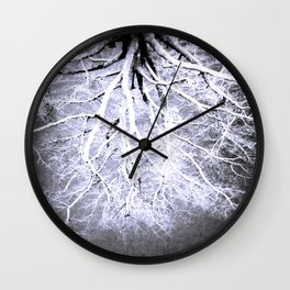 Twisted Perception gray Wall Clock