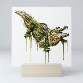 Alligator Watercolor Painting Mini Art Print