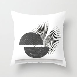 Contrast - Minimalism Mid-Century Modern Forms Throw Pillow