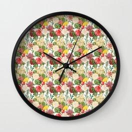 Vintage Floral Pattern | No. 1B Wall Clock
