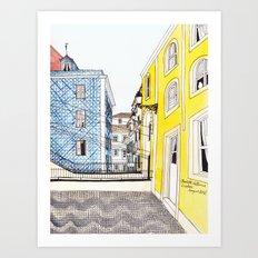 Beautiful Lisbon by Charlotte Vallance Art Print