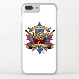 Canadian Salad Clear iPhone Case