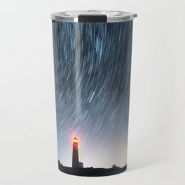Lighthouse in the Stars Travel Mug