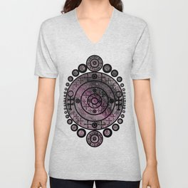 """""""Epiphany in Pink"""" by Angelique G. Unisex V-Neck"""