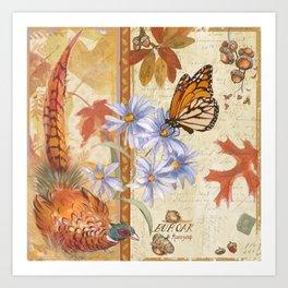 Pheasant and Monarch Art Print