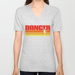 Vintage Dancer Present Idea Unisex V-Neck