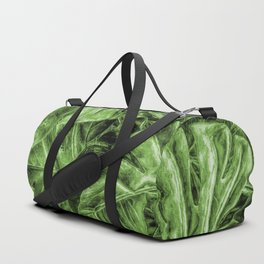 Painted Green Monstera palm leaves by Brian Vegas Duffle Bag