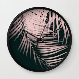 Palm Leaves Summer Night Vibes #2 #tropical #decor #art #society6 Wall Clock