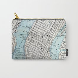 Vintage Map of New York Carry-All Pouch