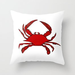 Getting Crabby Throw Pillow