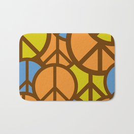 Cool Colorful Groovy Peace Symbols #society6 #decor #buyart #artprint Bath Mat