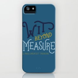Wit beyond measure (Ravenclaw) iPhone Case