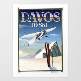 Davos ski poster Art Print
