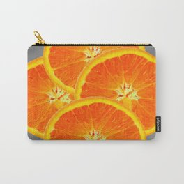 CONTEMPORARY SUCCULENT  ORANGE SLICES GREY ART Carry-All Pouch