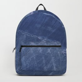 Rosegold and Blue Compass Backpack