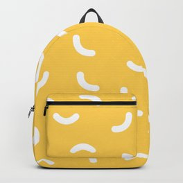 White lines yellow pattern Backpack
