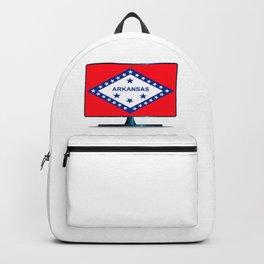 Arkansas Flag TV Backpack