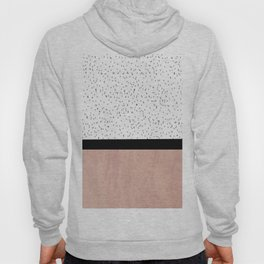 Pink marble and dots Hoody