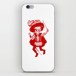 Skeleton Pirate With Dagger iPhone Skin
