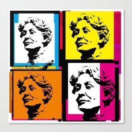 EMMELINE PANKHURST (4-UP POP ART COLLAGE) Canvas Print