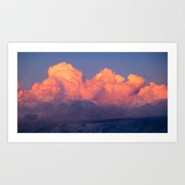 Barcelona Clouds at Sunset Art Print