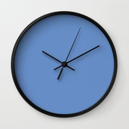PROVANCE Blue solid color Wall Clock