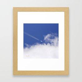 Flying Airplane Framed Art Print