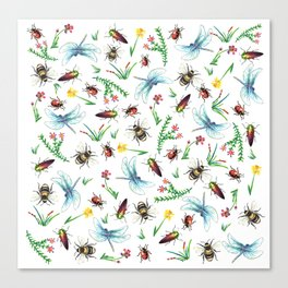 Insect Garden Canvas Print