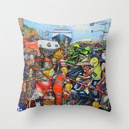 Il traffico di Palermo Throw Pillow