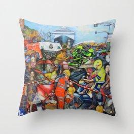 Il traffico di Palermo Throw Pillow