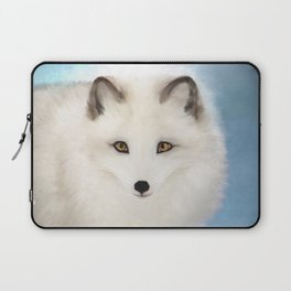 Inquisitive Arctic Fox Laptop Sleeve