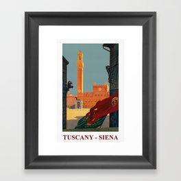 Tuscany - Siena Italy - Vintage Travel Framed Art Print