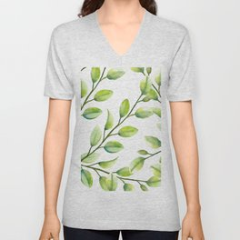 Branches and Leaves Unisex V-Neck