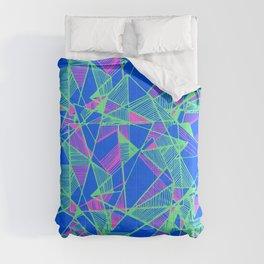 Blue Geometric pop art cool Comforters